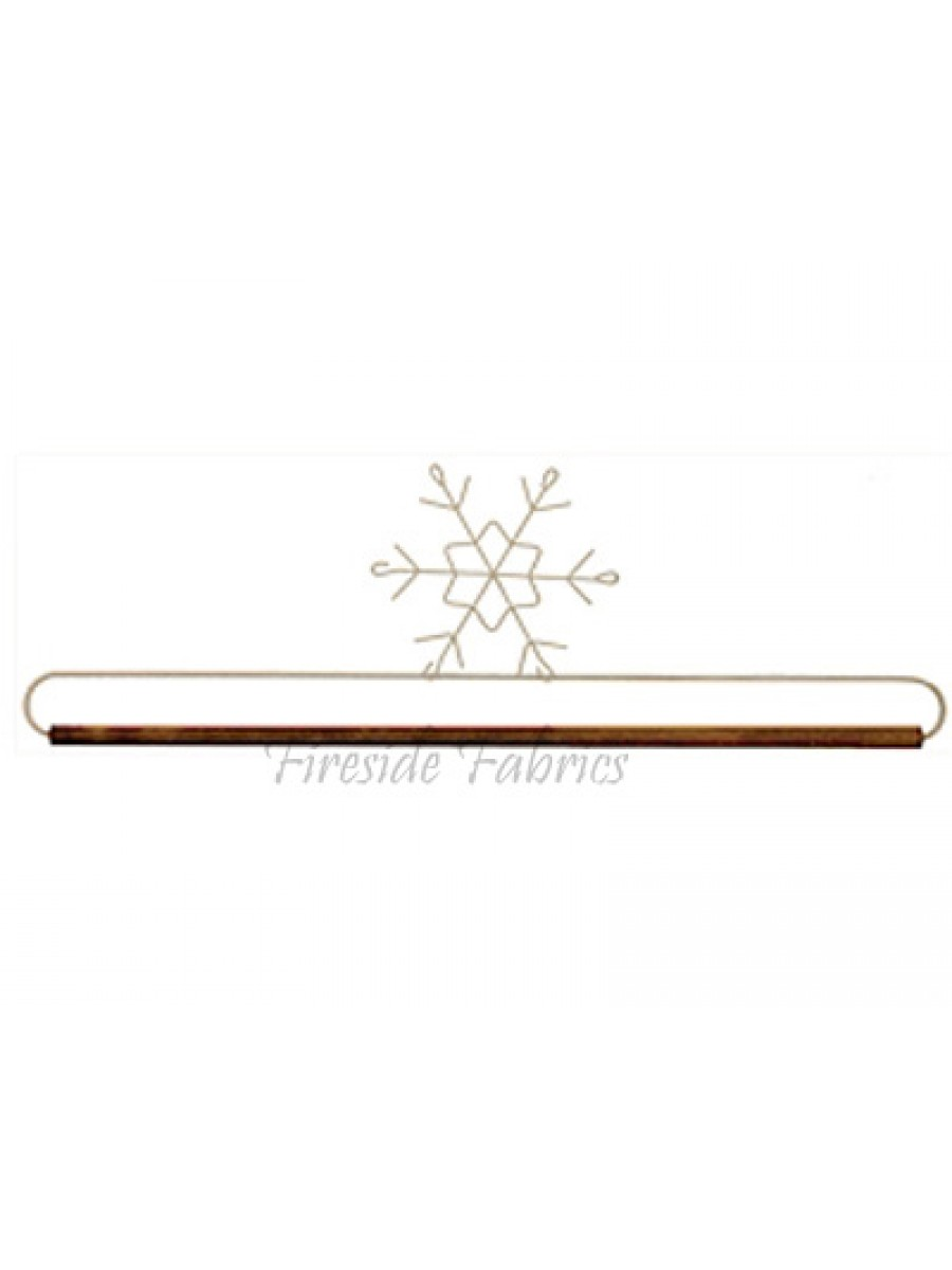 SNOWFLAKE WIRE QUILT HANGER - WITH DOWEL 16\