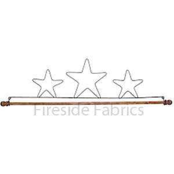 "3 STAR WIRE QUILT HANGER WITH DOWEL 16"" (41cm)"