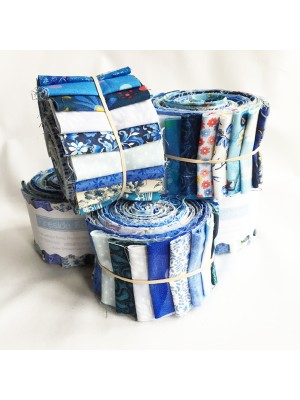 "FABRIC ROLL - BLUES 2.5"" - 20 STRIPS"
