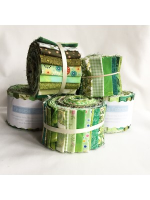 "FABRIC ROLL - GREEN 2.5"" - 20 STRIPS"