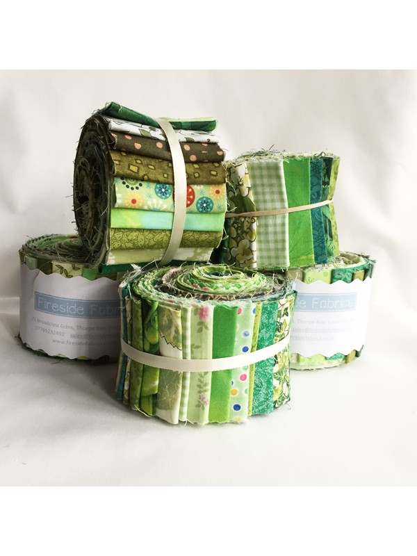 Fabric Roll Green 2 5 Quot 20 Strips Fireside Fabrics