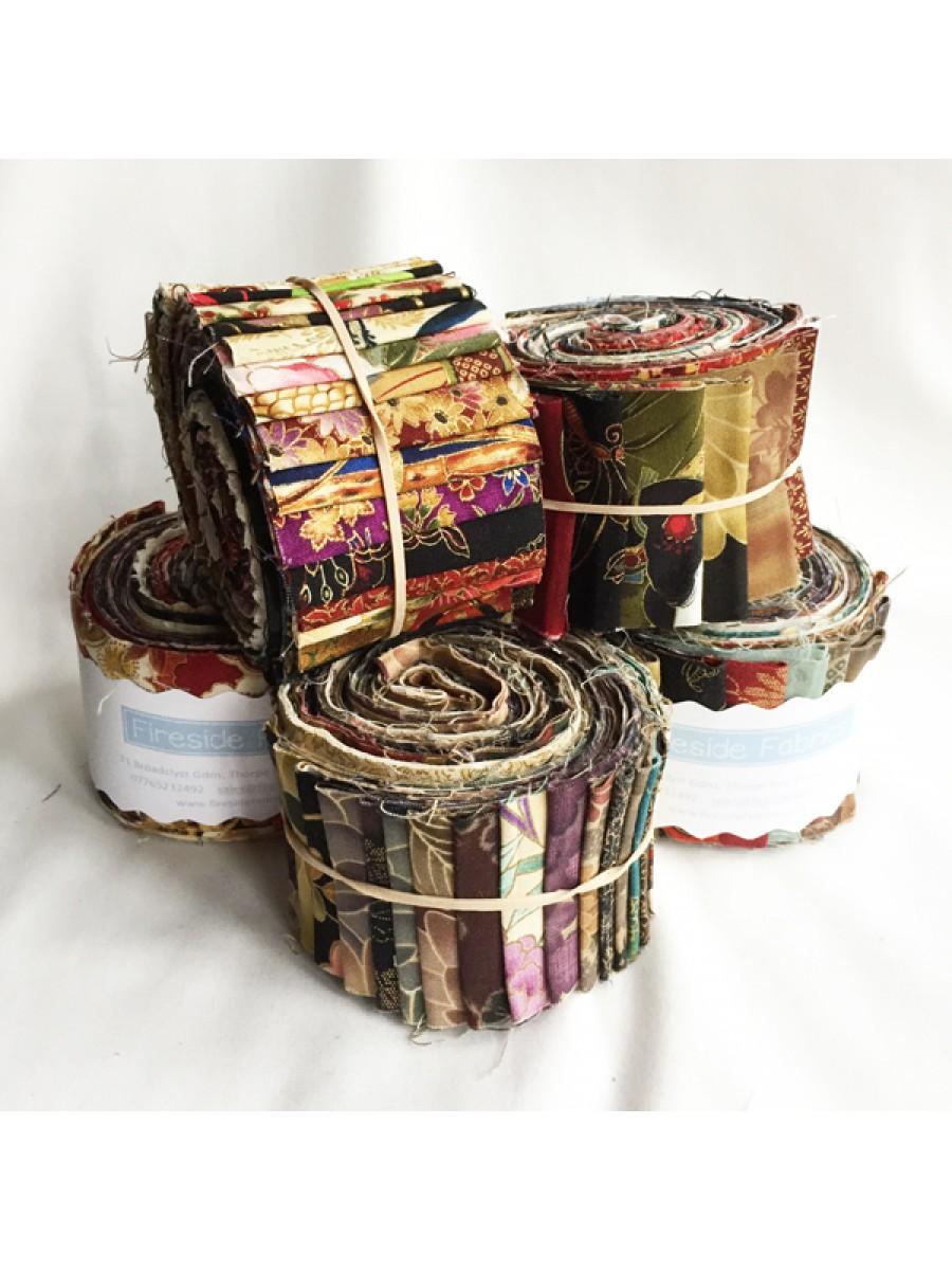 Fabric Roll Japanese 2 5 Quot 20 Strips Fireside Fabrics