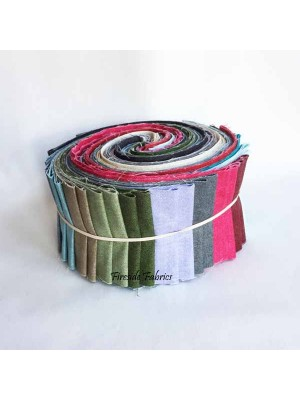 FABRIC ROLL - LINEN TEXTURE - 40 STRIPS