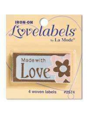 4 LABELS - MADE WITH LOVE - FLOWER - BLUE