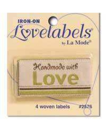 4 LABELS - HANDMADE WITH LOVE - GREEN