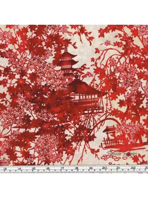 IMPERIAL COLLECTION - GARDEN PAGODA - CRIMSON