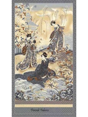 IMPERIAL COLLECTION 12 GEISHA PANEL - GREY