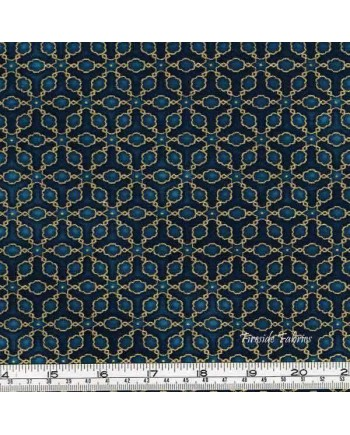 IMPERIAL COLLECTION - LATTICE - GOLD/VINTAGE BLUE (1 Left)