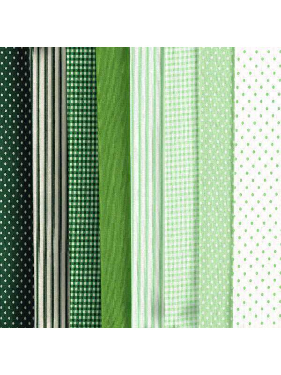 GREENS - 8 FAT QUARTER PACK