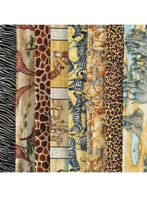 SAFARI - 8 FAT QUARTER PACK
