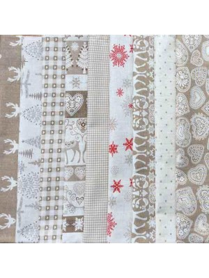 SCANDI 3 - 9 FAT QUARTER PACK - HESSIAN