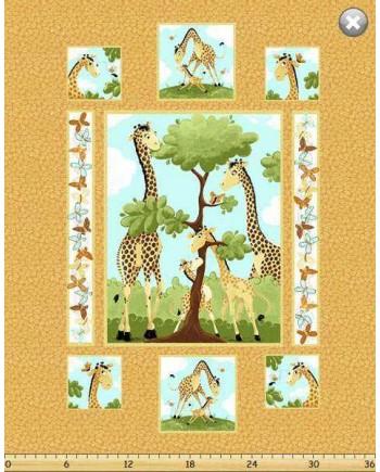 Zoe the Giraffe Cot Panel (1 Left)