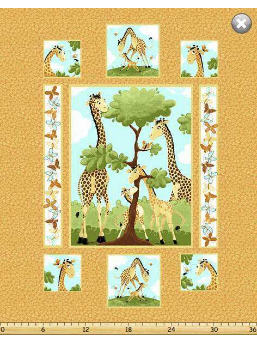 Zoe The Giraffe Cot Panel Fireside Fabrics Quilting