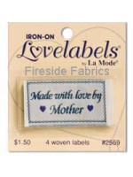 4 LABELS - MADE WITH LOVE BY MOTHER