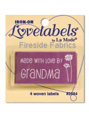 4 LABELS - MADE WITH LOVE BY GRANDMA - FLOWER