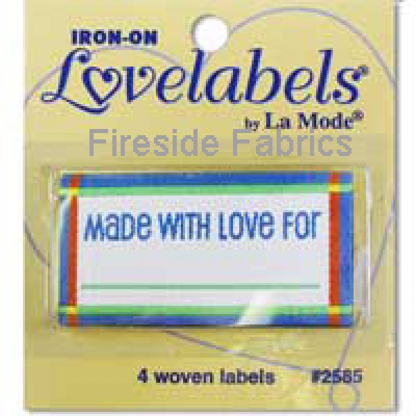 4 LABELS - MADE WITH LOVE FOR - BLUE