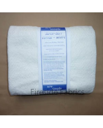 WADDING - SUPER SOFT WHITE COTTON - QUEEN SIZE